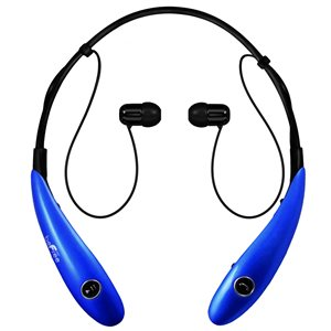 Befree Sound Blue Earbud Noise Canceling Headphones with Microphone
