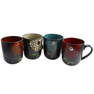Gibson Home Gardenia Cafe 16 oz. Assorted Mug Set, 4-Piece