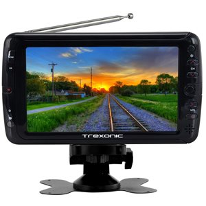 Trexonic 7-in Portable and Rechargeable Widescreen LED TV with 720p
