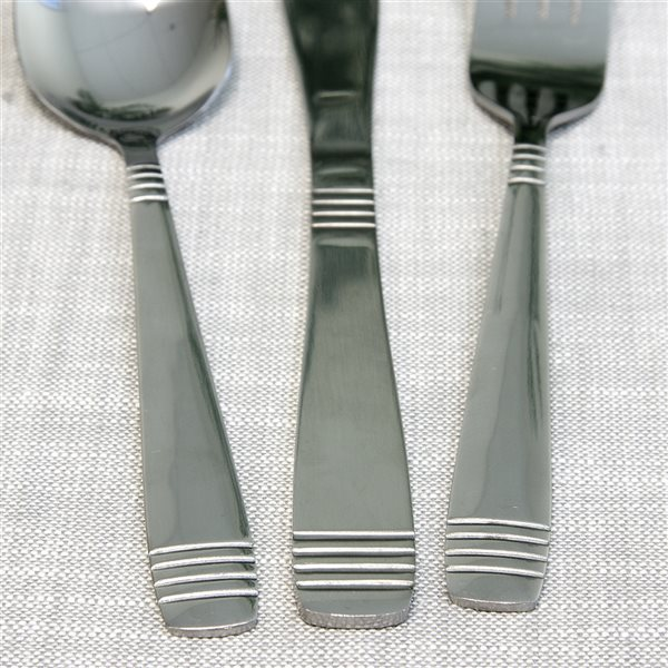 Gibson Home Palmore Plus Silver Modern Flatware Set - 55-Pack