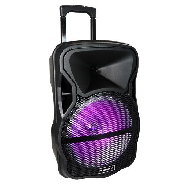 Trexonic 12-in 400-Watt Portable Speaker