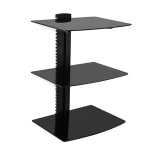 MegaMounts Black Fixed Wall TV Mount for TVs up to 46-in (Hardware Included)