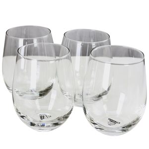 Gibson Home Imagination Clear 18 oz. Stemless Glass - Set of 4