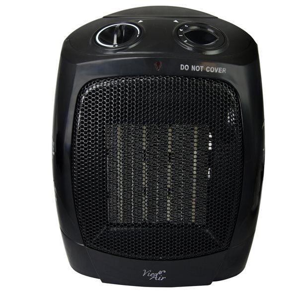 Vie Air 1500W Portable 2-Settings Heater - Black