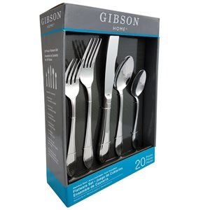 Gibson Home Herington Silver Traditional Flatware Set - 20-Pack