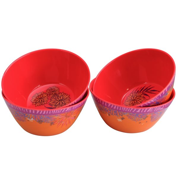 Gibson Home Melamine Tropical 6-in Bowl - 4-Piece Set