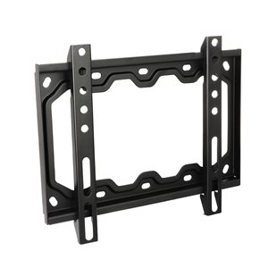 MegaMounts Fixed Wall Black TV Mount for TVs up to 42-in (Hardware Included)