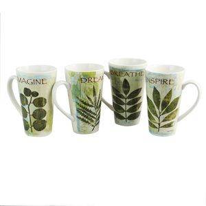 Gibson Home Nature Pressed 16 oz. Mugs Set of 4