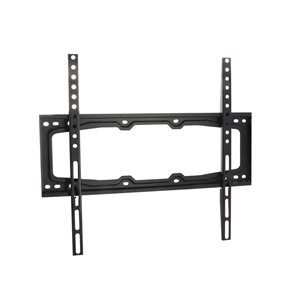 MegaMounts Fixed Wall Black TV Mount for TVs up to 55-in (Hardware Included)