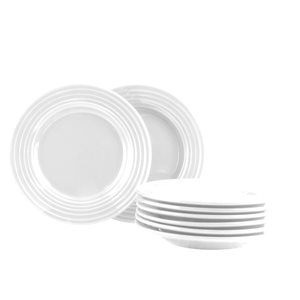 Gibson Home Plaza Cafe White Dinnerware 8-Piece