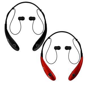 Befree Sound Black/Red Earbud Noise Canceling Headphones with Microphone - 2-Pack