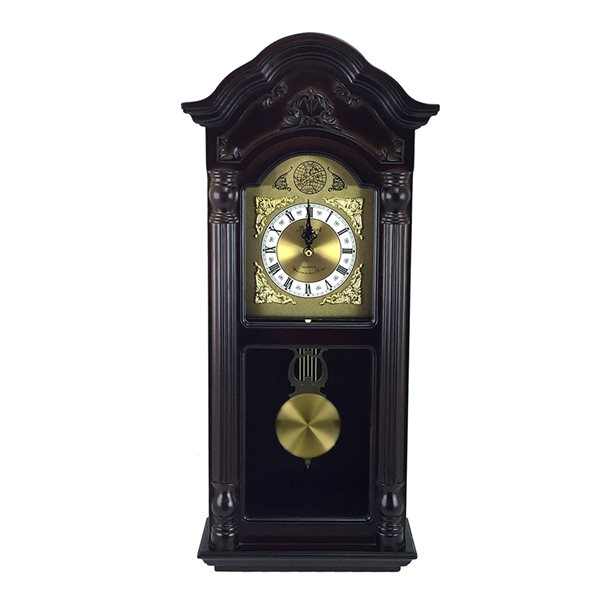 Bedford Clock Collection 25.5-in Analog Rectangle Wall Grandfather Clock