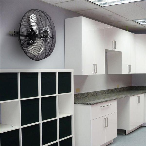 Vie Air 18-in 3-Speed Indoor Oscillating Fan - Black