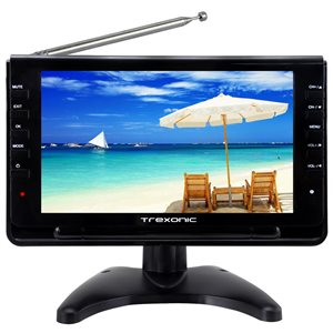 Trexonic 9-in Portable and Rechargeable Widescreen LCD TV with 1080p