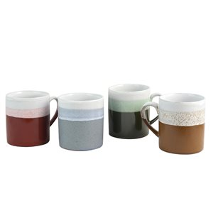 Gibson Home Terra 23 oz. Mug Set in Assorted Colours - Set of 4