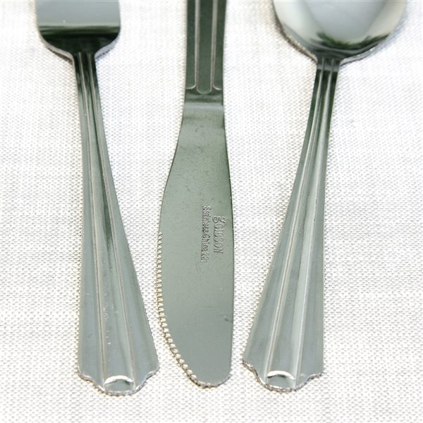 Gibson Home Classic Canberra Silver Traditional Flatware Set - 45-Pack