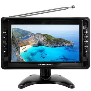 Trexonic 10-in Portable and Rechargeable Widescreen LCD TV with 1080p