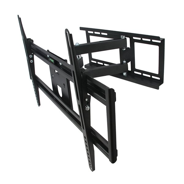MegaMounts Full Motion Wall Black TV Mount for TVs up to 70-in (Hardware Included)