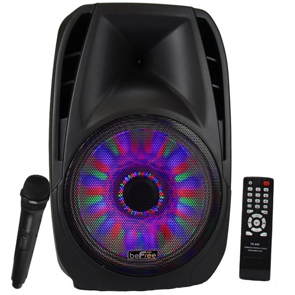 beFree Sound 15-in Bluetooth Tailgate Speaker