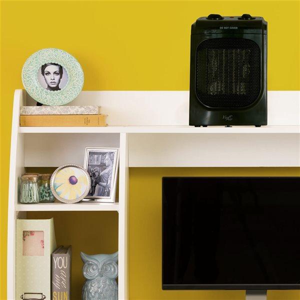 Vie Air 1500W Portable 2-Settings Home Ceramic Heater - Black
