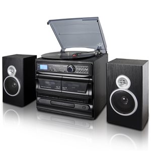 Trexonic 3-Speed Turntable with CD Player, Dual Cassette Player and Recording