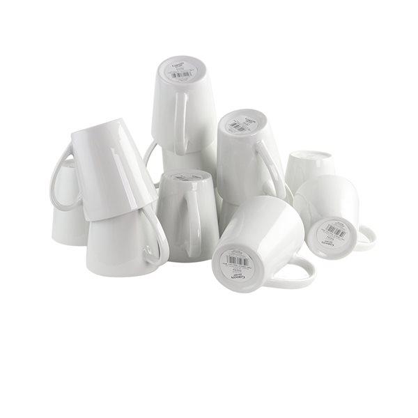 Gibson Home Noble Court 12 oz. Mug Set in White - Set of 12