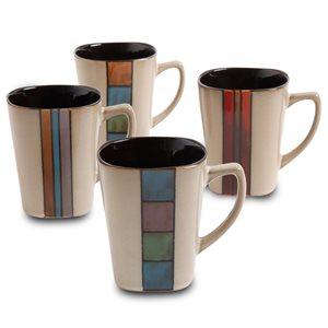 Gibson Home Cafe Melange 14 oz. Assorted Mugs