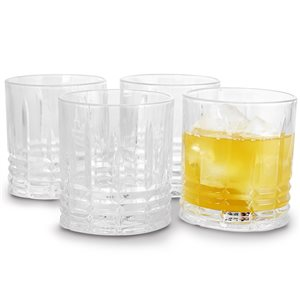 Gibson Home Jewelite 4-Piece 11 oz. Double Old Fashioned Glass Set