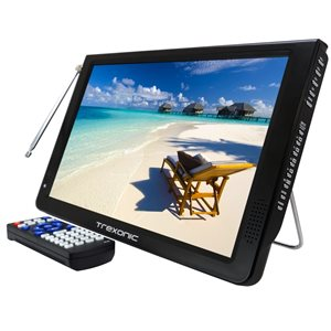 Trexonic 12-in Portable and Rechargeable Widescreen LED TV with 1080p