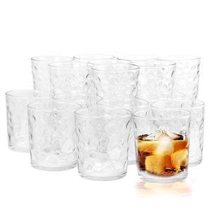 Gibson Home Foundations 16-Piece Tumbler Double Old Fashioned Glass Set