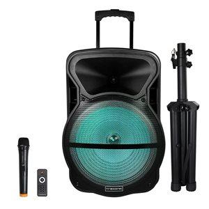 Trexonic 15-in 500-Watt Portable Speaker