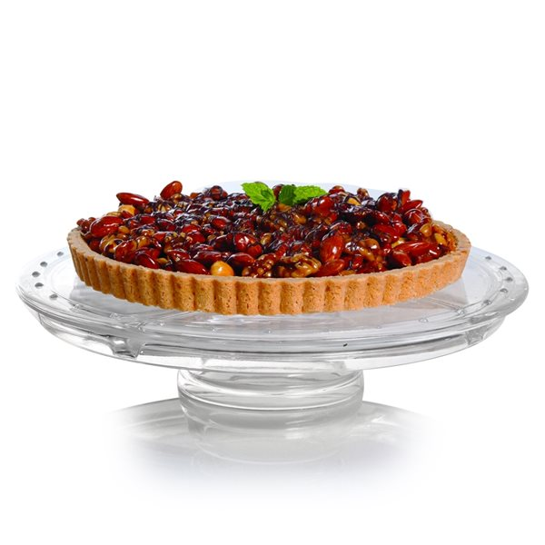 Gibson Home Great Foundations Glass Multi-Function Server and Cake Plate with Dome - 2-Piece Set
