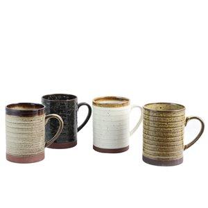 Gibson Home Terra Bella 18.5 oz Mug Set in Assorted Colours - Set of 4