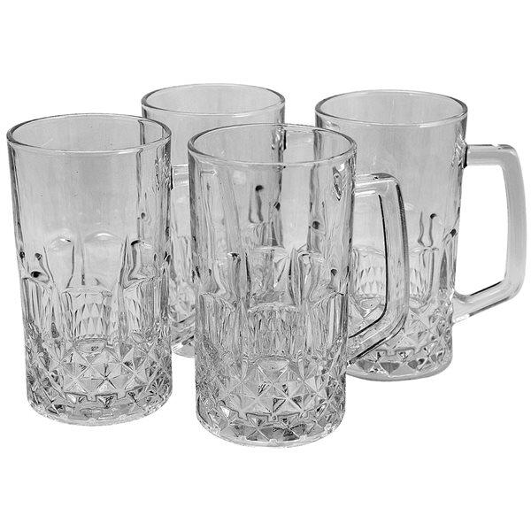Gibson Home Jewelite 4-Piece 21 oz. Glass Beer Mug Set
