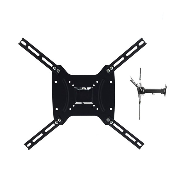 MegaMounts Full Motion Black Wall TV Mount for TVs up to 55-in (Hardware Included)