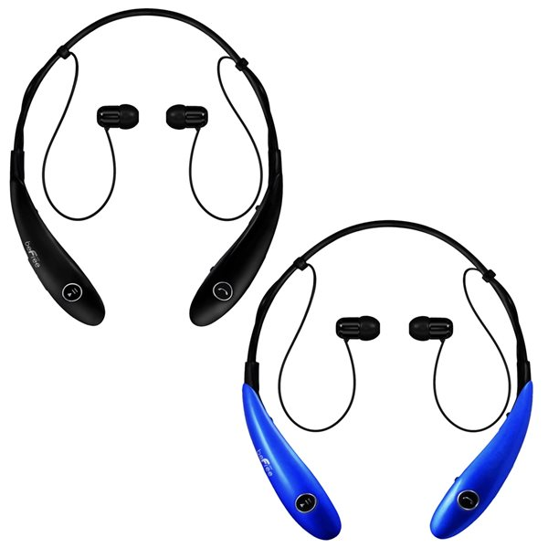 Befree Sound Blue/Black Earbud Noise Canceling Headphones with Microphone - 2-Pack