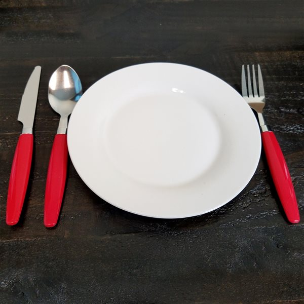 Gibson Home Palmdale Red Modern Flatware Set - 12-Pack