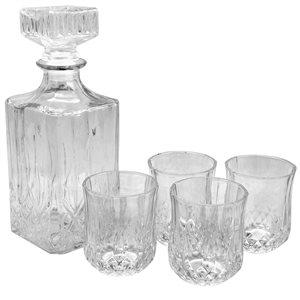 Gibson Home Jewelite 5-Piece Glass Decanter Set