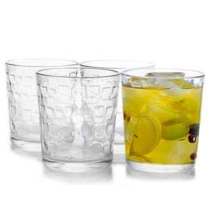 Gibson Home Foundations 13 oz. Double Old Fashioned Glass,  Set of 4