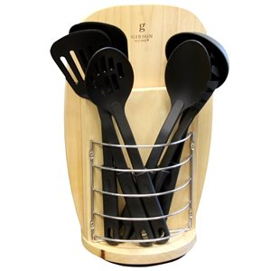 Gibson Home Cutlery and Tool Set with Wood Block 14-Piece