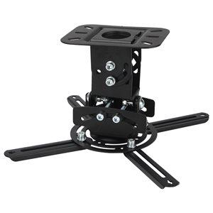 MegaMounts Tilt Ceiling Black TV Mount for TVs up to 70-in (Hardware Included)