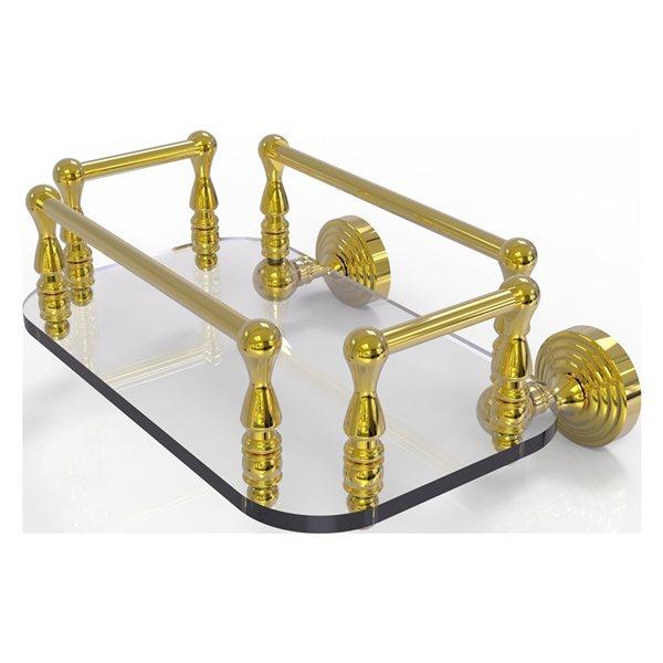 Allied Brass Waverly Place Polished Brass Wall Mount Glass Towel Tray