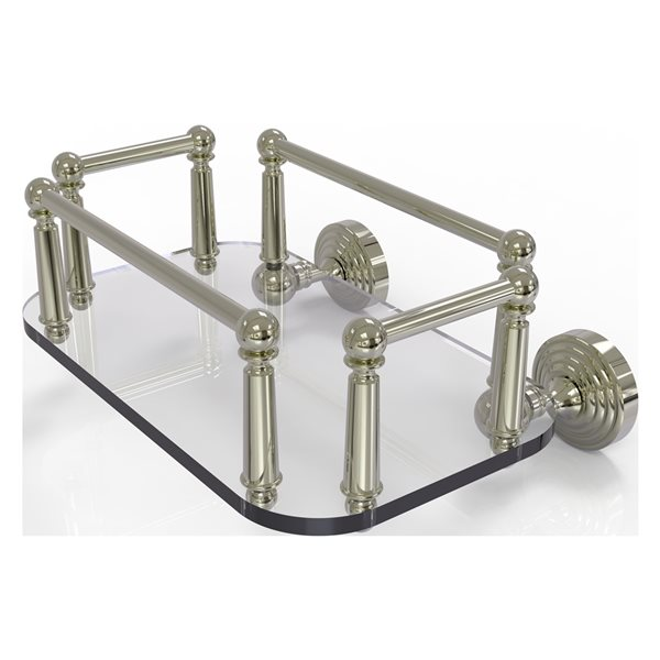 Allied Brass Waverly Place Wall Mount Glass Towel Tray in Polished Nickel
