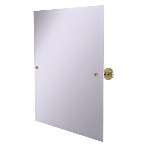 Allied Brass Waverly Place 23.5-in Unlacquered Brass Rectangular Frameless Bathroom Mirror