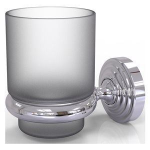 Allied Brass Waverly Place Polished Chrome Brass Tumbler and Toothbrush Holder