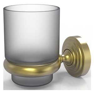 Allied Brass Waverly Place Satin Brass Tumbler and Toothbrush Holder
