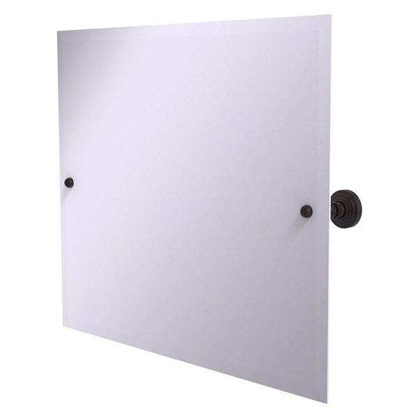 Allied Brass Waverly Place 28.5-in Venetian Bronze Rectangular Frameless Bathroom Mirror