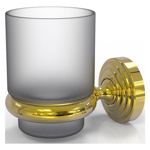 Allied Brass Waverly Place Polished Brass Tumbler and Toothbrush Holder