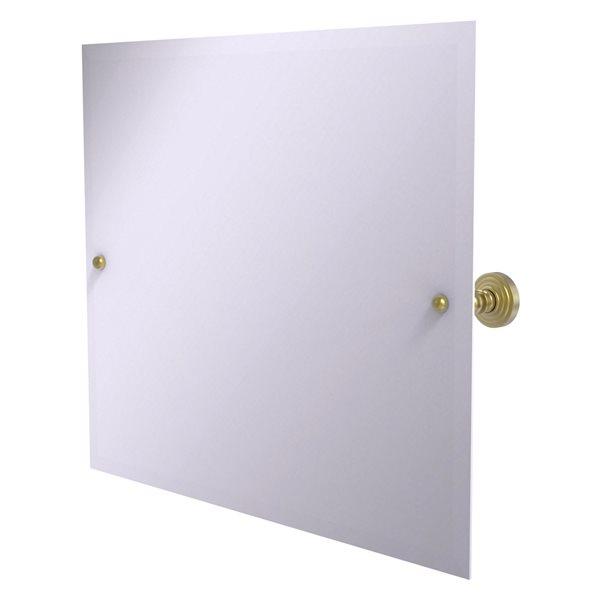Allied Brass Waverly Place 28.5-in Satin Brass Rectangular Frameless Bathroom Mirror