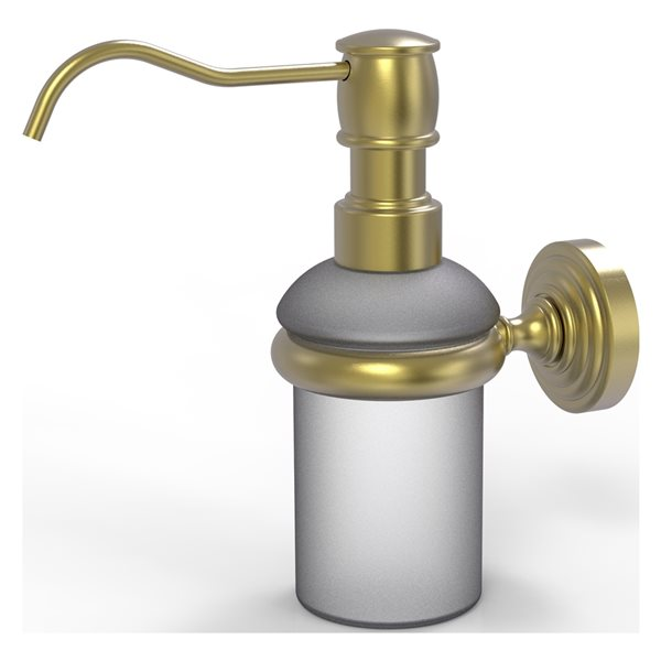 Allied Brass Waverly Place Satin Brass Wall Mount Soap and Lotion Dispenser